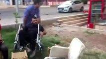 Diyarbakır engelli gence akülü tekerlekli sandalye sürprizi