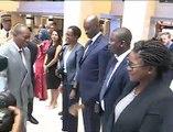 Alpha Condé au siège du Fonds monétaire International (FMI)