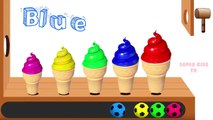 Learn Colors with Ice Cream for Children, Toddlers