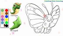Coloration Papillon - Butterfree Pokémon   Peindre pour les jeunes enfants et dessiner pour les enfants