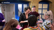 Phoebe Waller-Bridge greets fans after final 'Fleabag' performance at London's Wyndham's theatre