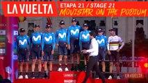 Movistar sur le podium / Movistar on the podium - Étape 21 / Stage 21 | La Vuelta 19