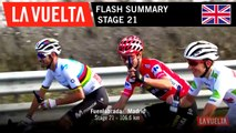 Flash Summary - Stage 21   La Vuelta 19