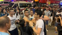 Street fights in North Point as protesters are pushed out of Causeway Bay