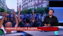 """Présidentielle en ALGÉRIE fixée au 12 décembre : """"Le régime joue sa survie"""""""