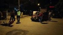 Polisten kaçtıkları otomobille kaza yaptılar