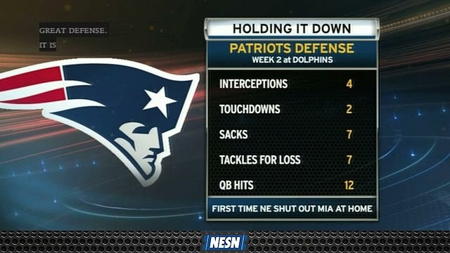 Patriots' Defense Puts Together Another Impressive Performance In Week 2