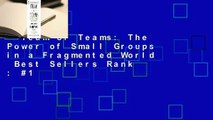 Team of Teams: The Power of Small Groups in a Fragmented World  Best Sellers Rank : #1