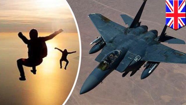 British skydivers almost struck by fighter jets traveling at 350mph