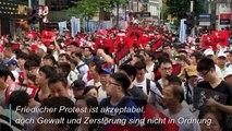 100 Tage Proteste: Das sagen Bürger aus Hongkong und Peking