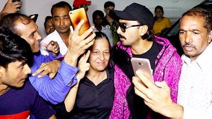 Ranveer Singh MOBBED Outside Dharma Office