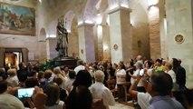 Andria: la statua di San Riccardo entra in Cattedrale (processione santi patroni 2019)