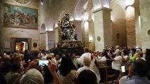 Andria: della Madonna (Maria Santissima dei Miracoli) rientra in Cattedrale tra gli applausi dei fedeli  (processione santi patroni 2019)