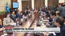Pres. Moon fully committed to building peace on Korean Peninsula to open era of co-prosperity