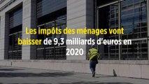 Les impôts des ménages vont baisser de 9,3 milliards d'euros en 2020