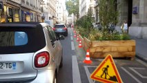 Végétalisation : on a testé la rue Edouard-Herriot à vélo