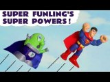 Funny Funlings Superpowers with DC Comics and Marvel Avengers 4 Endgame Superheroes with Lightning McQueen in this Toy Story Full Episode English