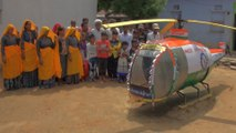 Inventor in rural India builds helicopter from spare parts and junk