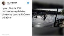 Plus de 100 trottinettes électriques repêchées dans le Rhône et la Saône à Lyon