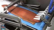 La ligne de traitement et de traitement automatique du saumon, ce couteau l'a vraiment