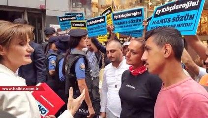 CHP binası önünde eylem yapan vatandaşlara Kaftancıoğlu'ndan ziyaret