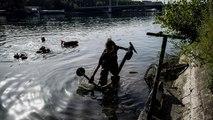 Lione, oltre 100 monopattini elettrici ripescati dal fiume in tre ore