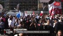 Avocats, pilotes, infirmiers : manifestation contre la réforme des retraites