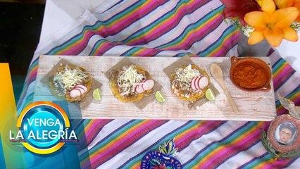 ¡RECALENTADO PATRIO! ¡Prepara unas tostadas de pozole y carnitas! | Venga La Alegría