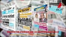 REVUE DE PRESSE CAMEROUNAISE DU 16 SEPTEMBRE 2019