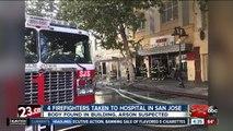 4 firefighters taken to hospital following suspected arson fire in San Jose