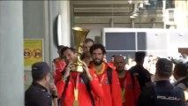 La selección española llega a Madrid para celebrar el título mundial