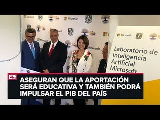 UNAM y Microsoft crearán laboratorio de inteligencia artificial