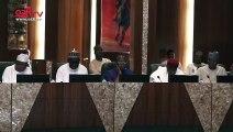 APC Governors storm villa, congratulate Buhari on tribunal victory