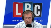 """Nigel Farage Argues With Caller Who Says Boris Johnson """"Stormed Off In A Huff"""""""