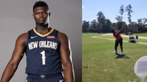 Zion Williamson BREAKS Golf Club During Pelicans Outing, Confirms Team Is Competing To Win NBA Title