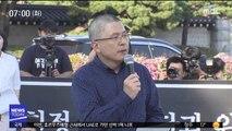 """제1 야당 대표 첫 삭발…""""조국 파면"""" 승부수"""