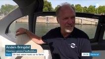 """À Paris, SeaBubbles, un """"taxi volant"""" en test sur la Seine"""