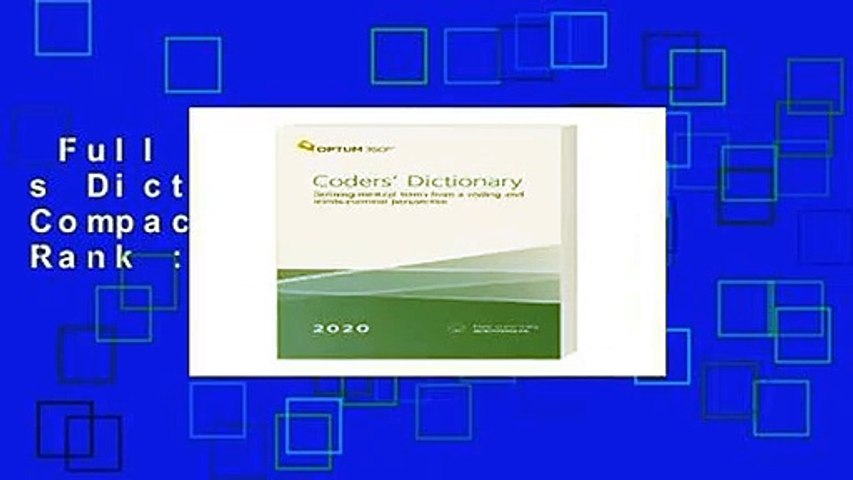 Full version  Coder s Dictionary 2020, Compact  Best Sellers Rank : #3