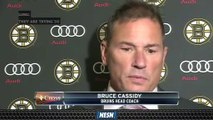 Bruce Cassidy Reflects On Bruins' Overtime Loss To Devils