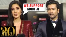 Katrina Kaif & Vicky Kaushal REACTS On PM Narendra Modi's NO PLASTIC Initiative | IIFA ROCKS 2019