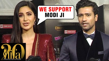 Katrina Kaif & Vicky Kaushal REACTS On PM Narendra Modi's NO PLASTIC Initiative   IIFA ROCKS 2019