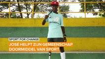 Sport for Change: Jose helpt kinderen met honkbal