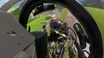 Vol en avion Rafale au-dessus des Alpes Suisses - Avion de chasse