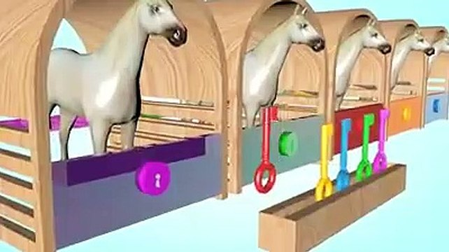 Wrong Key With Animals Colorfuls Eat Fruits