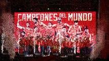 España celebra el oro con sus héroes