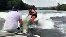 Voici ce qui arrive quand on décide d'embarquer une chèvre lors d'une séance de wakeboard