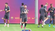 CLEAN: Messi gets ready for Barca return
