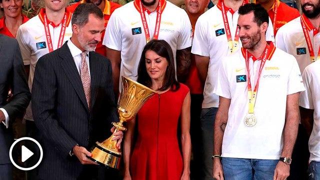 Lo que no se vio de la recepción de los Reyes a la Selección Española de Baloncesto