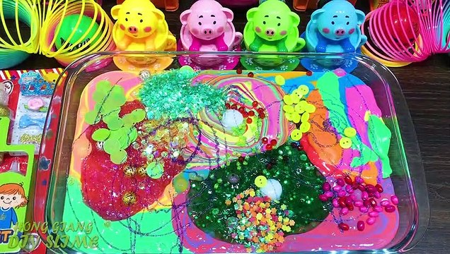 Mixing Random Things into Slime!! Relaxing with Piping Bags Slimesmoothie Satisfying Slime  #36