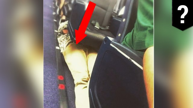 Passenger spotted sleeping underneath plane seats in viral pic